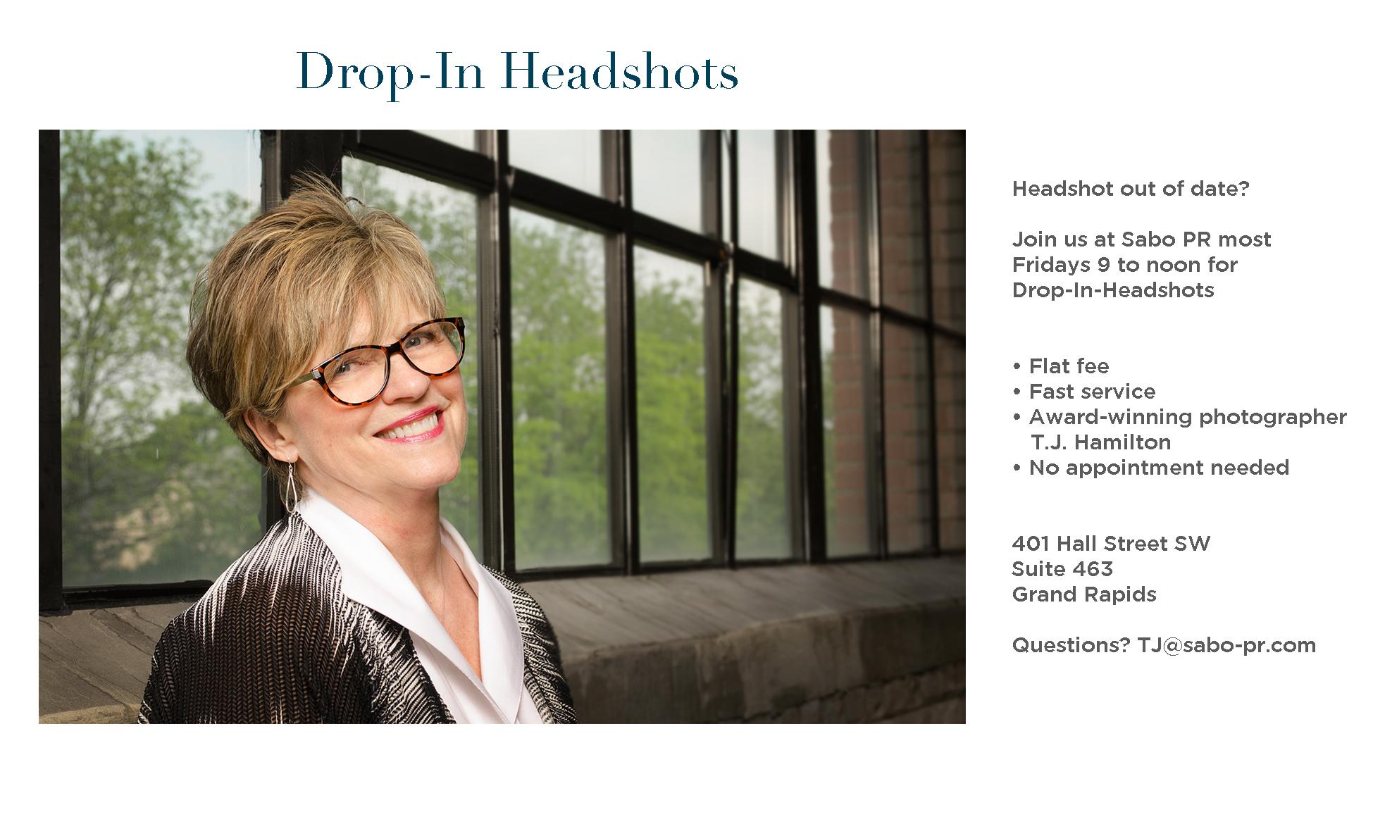 Drop in headshots for website