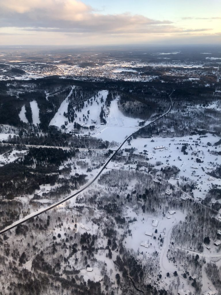 Flying over the U.P.