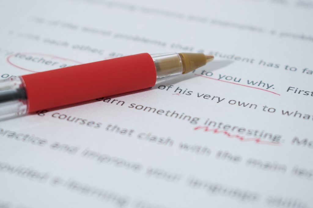 Proofread a paper