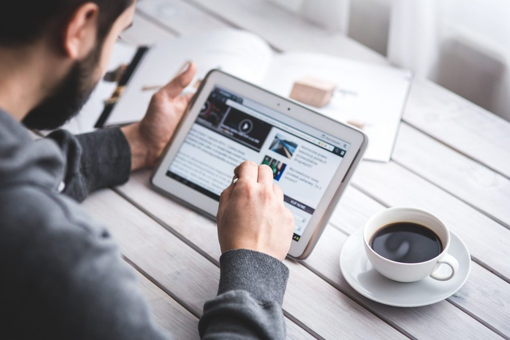 Man reads content customized for stakeholders