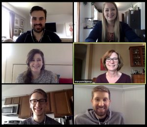 Sabo PR is staying connected with Zoom. Here's a screenshot from one of our video conference calls.